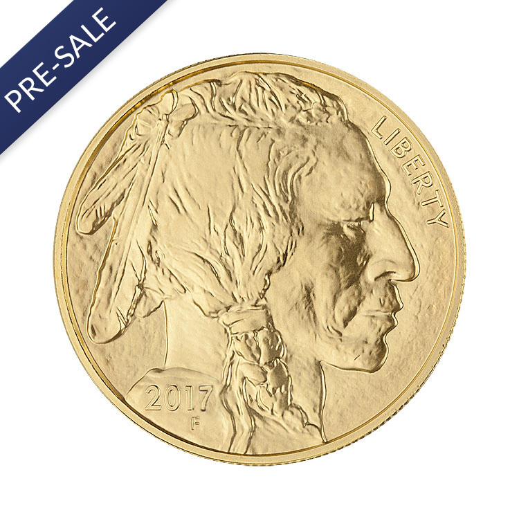 1 oz American Gold Buffalo Coin (2017) - Front View