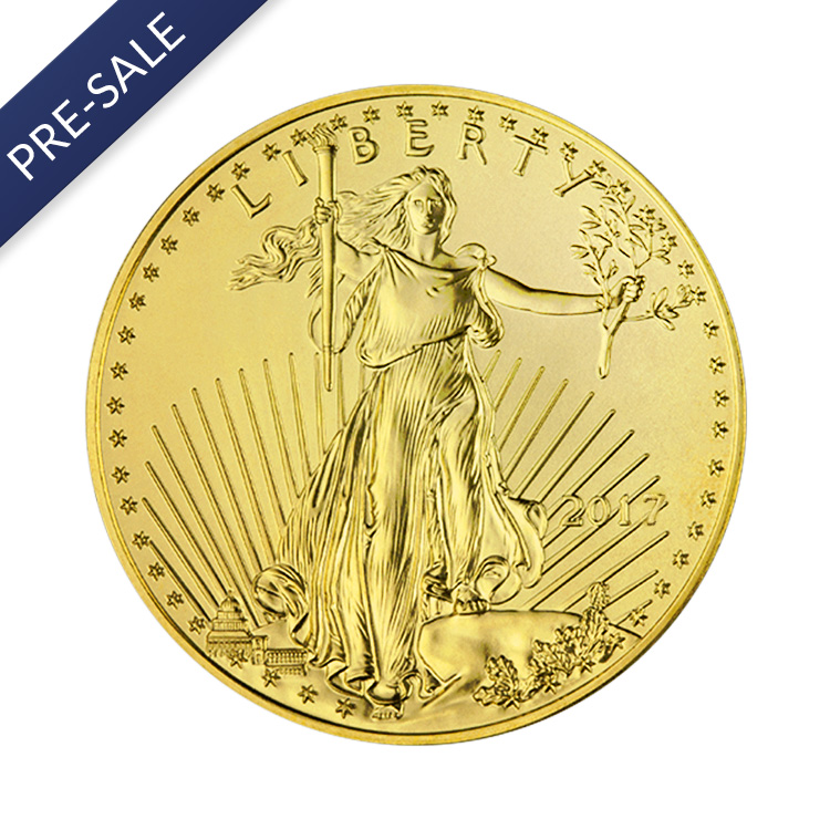 1 oz American Gold Eagle Coin (2017) - Front View