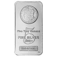 5 oz Morgan Silver Bar