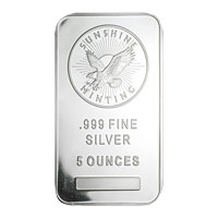 5 oz Silver Bar Sunshine Mint