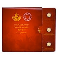 8 gram Gold Canadian Maplegram