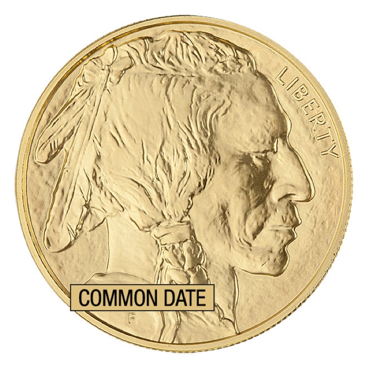 1 oz American Gold Buffalo Coin (Common Date)