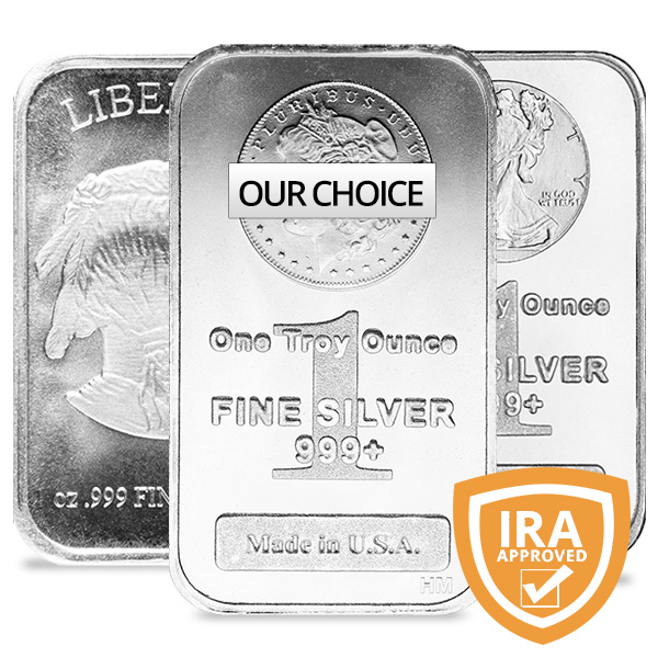 1 oz Silver Bar - Various Imprints