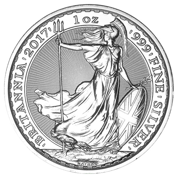 1 oz Silver Britannia Coin (2017) - Back View