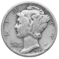 $1 Face Value Mercury Dimes