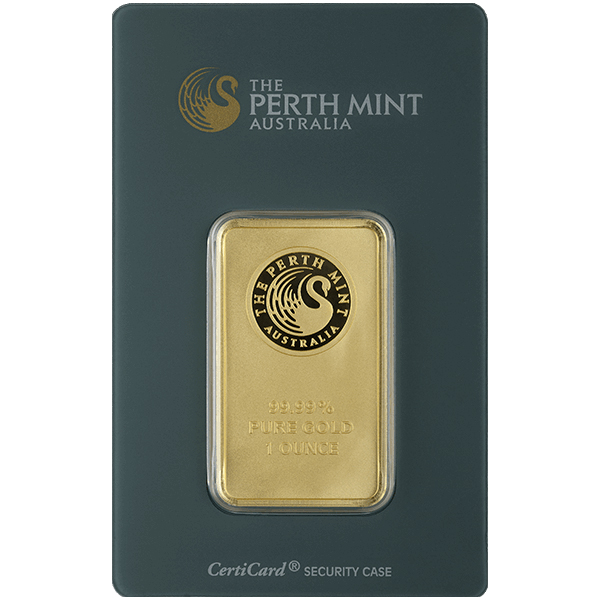1 oz Perth Mint Gold Bar - Front View