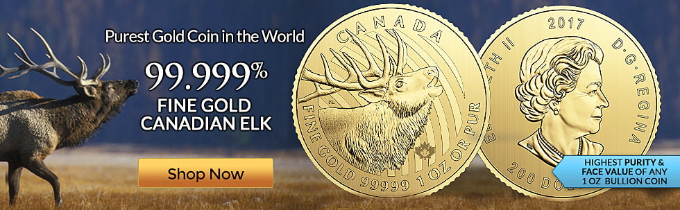 2017 Gold Elk Coin