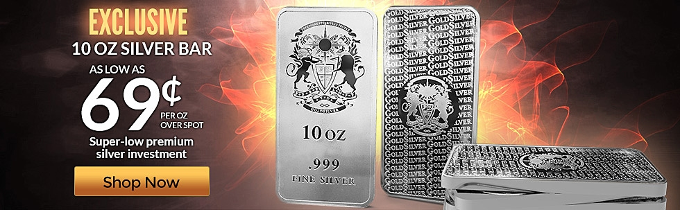 10 oz GoldSilver Crest Bar