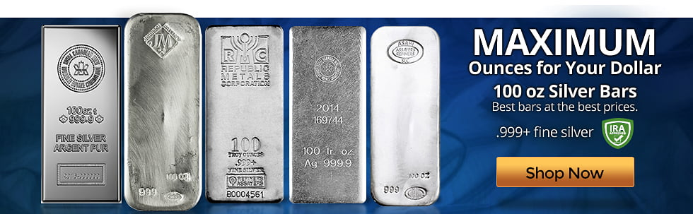 100 oz Our Choice Silver Bars
