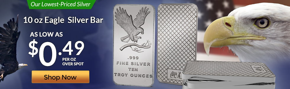 10 oz Silver Eagle Bar