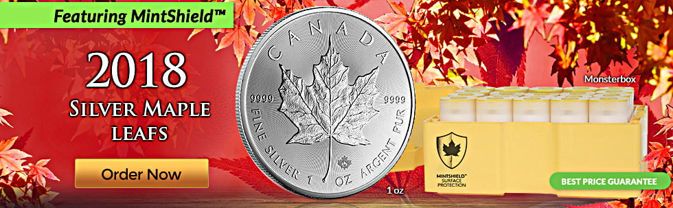 2018 Silver Maple Leaf Mint Shield