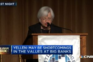 yellen - poor values may undermine bank safety