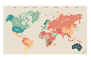 mapping monthly disposable income around the world