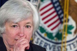 futures turn lower on inflation data; yellen speech eyed