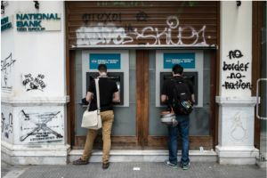 greek bank deposits bleeding worsens in april