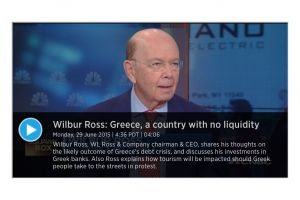 greece could face social unrest soon - wilbur ross