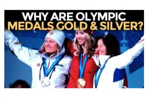 why are olympic medals gold & silver? mike maloney