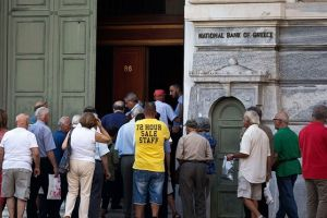 greece debt crisis: athens reopened stock market falls 23% as manufacturing plunges - live updates