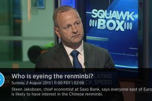 dollar has peaked - steen jakobsen, chief economist saxo bank