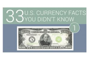 33 facts on u.s. currency