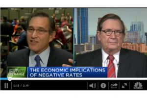 dr. lacy hunt and rick santelli discuss the fed engineering negative interest rates
