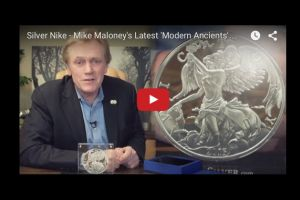 silver nike - mike maloney's latest 'modern ancients' silver round