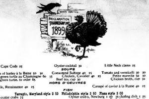 thanksgiving day menus