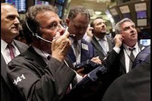 dow down -390 points, gold over $1,200.00 at one point