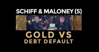 Gold Vs Debt Default - Peter Schiff & Mike Maloney (Part 5)